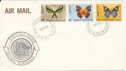 Papua New Goinea FDC 14-2-1966 Set Of 3 Butterflies - Papouasie-Nouvelle-Guinée