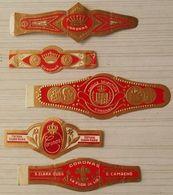 J80 Lot Bagues De Cigares  Coronas  5 Pièces - Cigar Bands