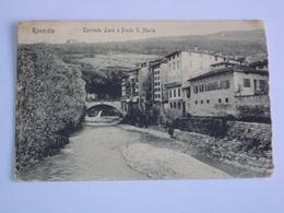 ITALIA TRENTINO CARTOLINA ROVERETO PONTE S. MARIA TRENTO FORMATO PICCOLO - Trento