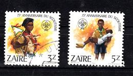 Zaire 1982 Mi Nr 788 + 789 Scouting - Zaïre