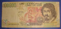 ITALIA 100000 LIRE, 6/5/1994 VF - [ 2] 1946-… : Républic