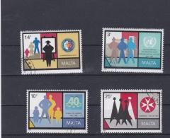 Malta 1989 Anniversaires - 4 Stamps Used    (H36) - Malta