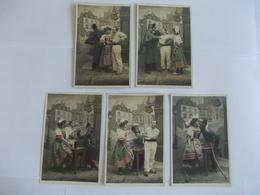 Lot De 5 Cartes D'une Même Série Le Billet De Logement Edtion MF Paris - Postcards