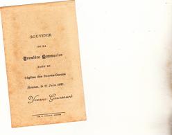 Première Communion Eglise Des Sacrés Coeurs à Rennes Le 11 Juin 1925 D ' Yvonne GOUESNARD - Communion