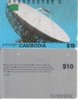 CAMBODIA - Earth Station, Satellite Dish(US$10.00), CC: I952333a, Used - Cambodia
