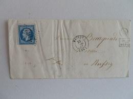 EMPIRE NON DENTELE 14 SUR LETTRE DE MAICHE A RUSSEY DU 23 DECEMBRE 1862 (GROS CHIFFRE 2162) - Marcophilie (Lettres)