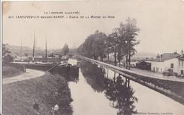 LANEUVILLE - DEVANT - NANCY ,,,,,CANAL De La  MARNE Au  RHIN ,,,,,,,BE ,,,,,peniche ,,,, Ecrite 1916,,, - Other Municipalities