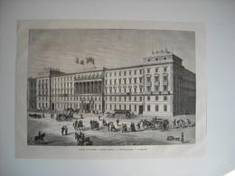 GRAVURE 1873. AUTRICHE. VIENNE. L'HOTEL DONAU, A LEOPOLDSTADT. - Song Books