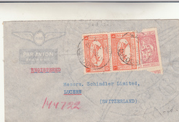 Djedda To Lucern, Suisse. Cover 1954. Un Francobollo Rovinato - Arabia Saudita