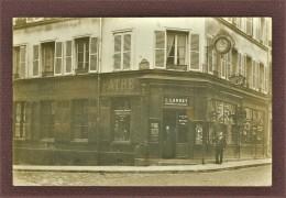 PARIS 15ème - SUPERBE CARTE PHOTO - C. LANNEY HORLOGER, 264 RUE DE VAUGIRARD ANGLE RUE MAUBLANC - LOCALISATION GARANTIE - Paris (15)