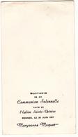Communion Solennelle Eglise Sainte Therese à Rennes Le 20 Juin 1957 De Maryvonne MOQUET - Communion