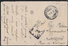 POSTA MILITARE Ia GUERRA - CARTOLINA ILLUSTRATA DA 4a DIVISIONE (DOBRO) (p.1) 09.05.1916 PER LANZARA (SA) - 1900-44 Victor Emmanuel III