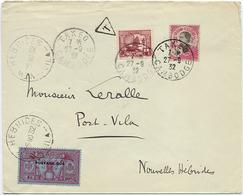1932 LETTRE DU CAMBODGE TAXEE A L'ARRIVEE AUX NOUVELLES HEBRIDES - Brieven En Documenten