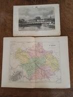 L'Aube - Troyes - Bar Sur Aube - Arcis Sur Aube - Nogent Sur Seine - Illustré Par Farlet Et Merget + Carte Géographique - Vecchi Documenti