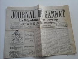 Journal De Gannat Lot De Deux Voir Description - Vieux Papiers