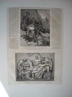 GRAVURE 1873. CONCOURS POUR L'ECOLE DE ROME. LA CAPTIVITE DE BABYLONE. PHILOSTETE BLESSE, PAR M. IDRAC, ELEVE DE MM. CAV - Song Books