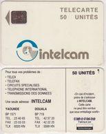 29/ Cameroon; P8. White - Logo, 50 Ut., SC5 Afnor, CN C3B000638 - Kameroen