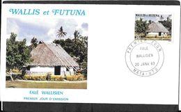 CAD MATA - UTU    WALLIS ET FUTUNA - Covers & Documents