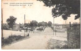 CONFLANS SAINTE HONORINE    Vue Sur Le Pont - Conflans Saint Honorine