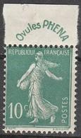 France N° 188** Semeuse 10c Vert Phéna - France