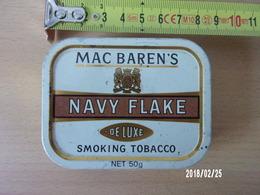 Mac Baren's Navy Flake Smoking Tobacco 50gr - Contenitori Di Tabacco (vuoti)
