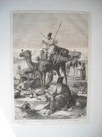 GRAVURE 1873. PELERINS PERSANS PORTANT LEURS MORTS AU SANCTUAIRE DE KERBALA, PRES DE BAGDAD. - Song Books