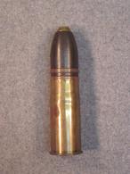 Obus De 37mm Inerte, Coup Complet Français, Daté 1916, France WW1, Bon état. - 1914-18