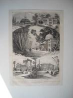 GRAVURE 1873. AUTRICHE. PARC DE L'EXPOSITION DE VIENNE. BAZAR TURC. PAVILLON PERSAN. CERCLE ORIENTAL. FORESTIERE HONGRIE - Music & Instruments