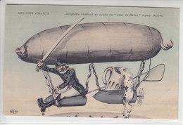"""LES ROIS VOLANTS - DIRIGEABLE ALLEMAND EN CULOTTE DE 2PEAU DE BALLES"""" MOTEUR HARDEN - ILLUSTRATION - 22.04.15 - Weltkrieg 1914-18"""