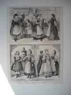 GRAVURE 1873. AUTRICHE. LES FEMMES A L'EXPOSITION DE VIENNE. DANS CHALET ALPES STYRIENNES. LAITERIE AUTRICHIENNE. CONFIS - Song Books