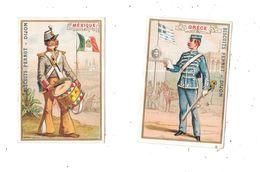 10558 - Lot De 2 Chromos Biscuits PERNOT : Mexique Et Grèce, - Pernot