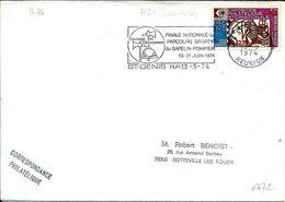 Reunion ,parcour Sportif Du Sapeur Pompier Juin 1974 De Saint Denis Rp En 1974 - Réunion (1852-1975)