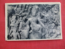 Bombay - Elephanta Caves--- Shiva Half Male & Half Female--- Mailed From Hong Kong - Ref 2858 - India