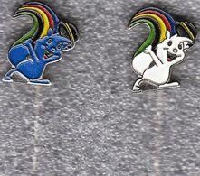 Universiade, Universiada Zagreb 1987 Croatia Yugoslavia / Mascot ZAGI - Squirrel / Pin, Badge, Badges - Pin