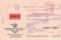 27671.  Tarjeta Certificada Contra Reembolso MADRID 1974. Llegadas TERUEL - 1971-80 Storia Postale