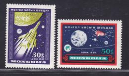 MONGOLIE N°  157 & 158 ** MNH Neufs Sans Charnière, TB (D5289) Cosmos, Lunik III - Mongolie