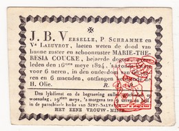 DB † 1824 Marie-Theresia Coucke - Brugge / Verselle Schramme Labuvroy - Overlijden