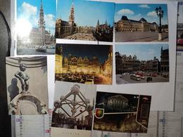 BELGIQUE. LOT DE 7 CPSM BRUXELLES. ANNEES 60 GRAND PLACE / MANNEKEN PIS .... - Lots, Séries, Collections