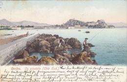 CORFOU, La Citadelle (Cote Sud), Gel.191?,2 Fach Frankiert - Griechenland