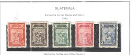 Guatemala PO 1949 Las Casas  E Indian  Scott.325/329+nuovi  See Scans On Scott.Pages - Guatemala