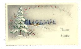 Bonne Année. Mignonnette. Village, Sous La Neige  6,5/11 Cm. 1964 - Nieuwjaar