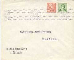 Enveloppe Kuvert - Pub Reklam S. Rabbinowitz Stockholm - Till Hagfors Sverige Suède Zweden 1943 - Postal Stationery