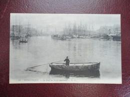 CPA 59 DUNKERQUE LE PORT AU SOLEIL COUCHANT BARQUE - Dunkerque