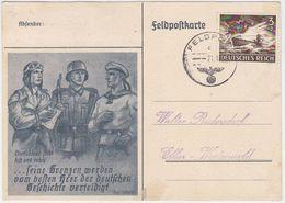 GERMANY 1944 (21.1.) ILLUSTR.FIELDPOST CARD USED FRANKED Mi 873 - Autres