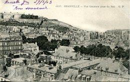 CPA -  GRANVILLE - VUE GENERALE PRISE DU ROC  (CLICHE DIFFERENT - ETAT PARFAIT) - Granville