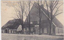 "GERMANY 1914 (25.5.) PICT.PC KIRCHBARKAU(Gasth.""Unter Den Linden"") RAILW.PM TO ALTONA/E. - Autres"
