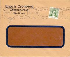 Enveloppe Kuvert - Pub Reklam Enoch Cronberg Borlänge  - Till Hagfors Sverige Suède Zweden 1943 - Postal Stationery