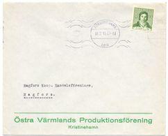 Enveloppe Kuvert - Pub Reklam Östra Värmlands Kristinehamn  - Till Hagfors Sverige Suède Zweden 1943 - Postal Stationery