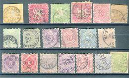 Allemagne / Wurtemberg - Lot De 18 Valeurs  Oblitérés Avant 1900 + 1 Découpe D 'entier, états Divers  - T29 - Wurttemberg