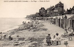 CPA SAINT AUBIN SUR MER - LA PLAGE - POINTE DU CASTEL - Saint Aubin